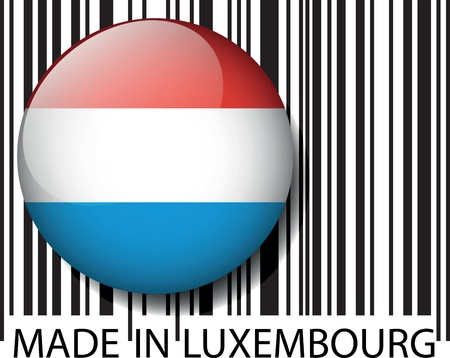 Made in Luxembourg barcode. Vector illustration Vector