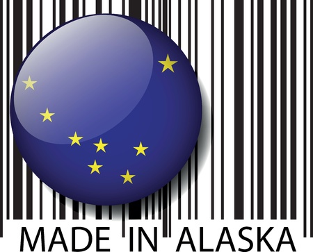 Made in Alaska barcode. Vector illustration Vector