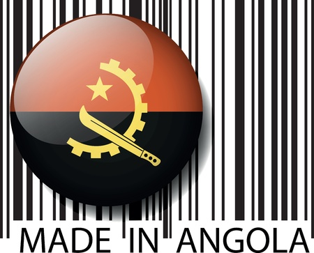 Made in Angola barcode. Vector illustration Stock Vector - 14394323