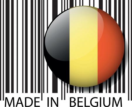 Made in Belgium barcode. Vector illustration Vector
