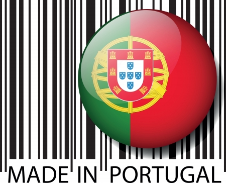 verify: Made in Portugal barcode. Vector illustration