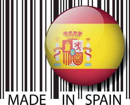 made in spain: Made in Spain barcode. Vector illustration Illustration