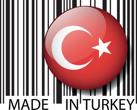 turk: Made in Turkey barcode. Vector illustration