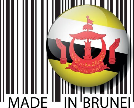 Made in Brunei barcode. Vector illustration  Vector