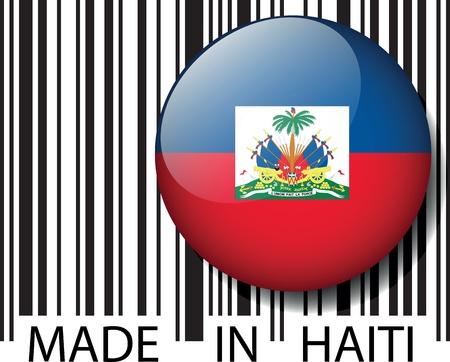 article marketing: Made in Haiti barcode. Vector illustration