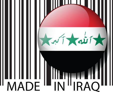 Made in Iraq barcode. Vector illustration  Vector