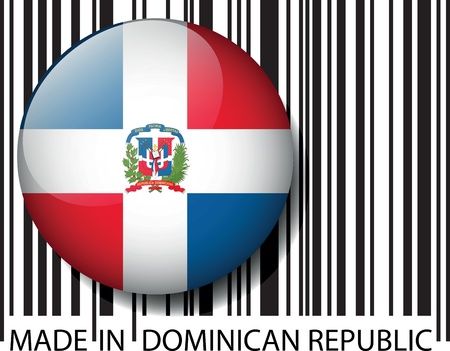 Made in Dominican Republic barcode. Vector illustration  Vector
