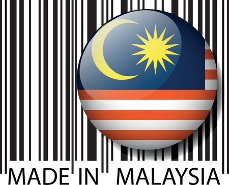 Made in Malaysia barcode. Vector illustration Stock Vector - 14457324