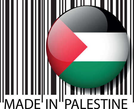 palestine: Made in code � barres Palestine. Vector illustration
