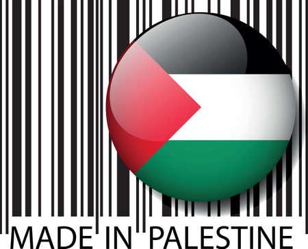Made in Palestine barcode. Vector illustration  Illustration