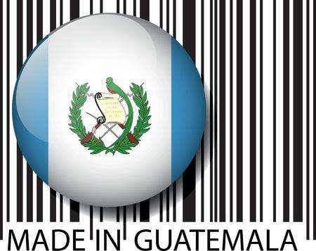 guatemala: Made in Guatemala barcode. Vector illustration  Illustration
