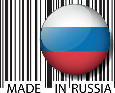 Made in Russia barcode. Vector illustration  Stock Vector - 14457318