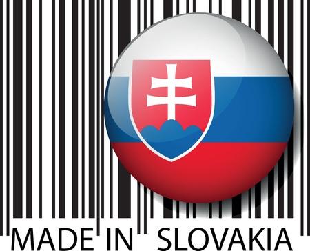 slovakian: Made in slovakia barcode. Vector illustration  Illustration