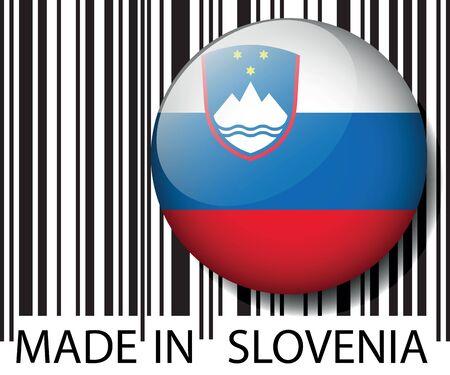 slovenia: Made in Slovenia barcode. Vector illustration