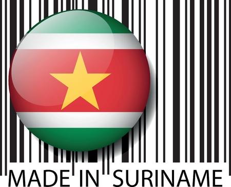 suriname: Made in Suriname barcode. Vector illustration