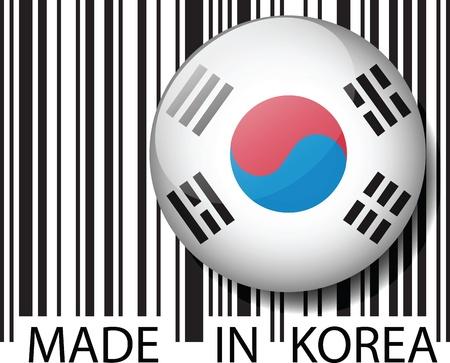 Made in SOUTH KOREA barcode. Vector illustration Vector