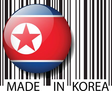 Made in NORTH KOREA barcode. Vector illustration Stock Vector - 14457321