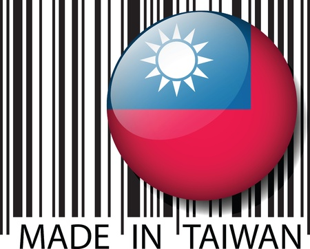 Made in TAIWAN code à barres. Vector illustration