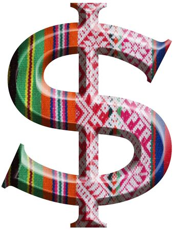 Dollar Symbol made with hand made woolen fabric Stock Photo - 14586132