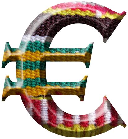 Euro Symbol made with hand made woolen fabric Stock Photo - 14586026