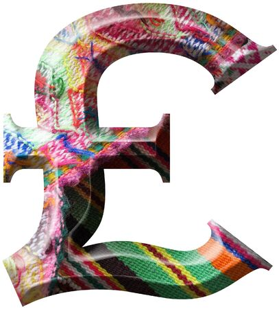 Sterling Symbol made with hand made woolen fabric Stock Photo - 14586030