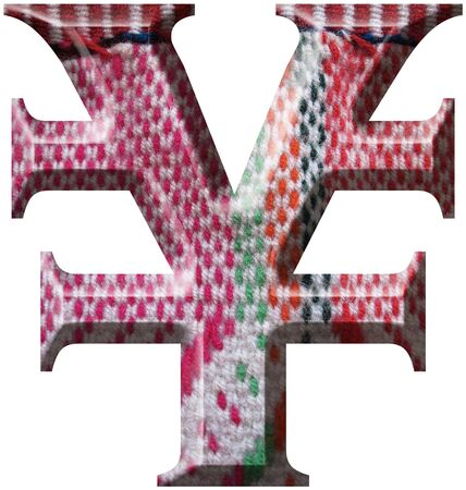 Yen Symbol made with hand made woolen fabric Stock Photo - 14586054