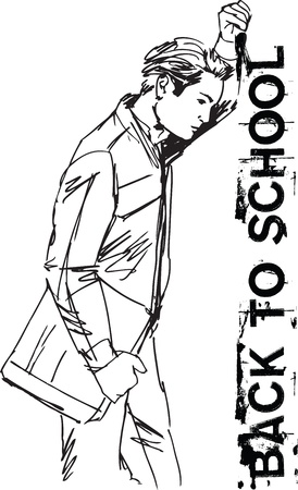 student book: Sketch of Education concept with student.