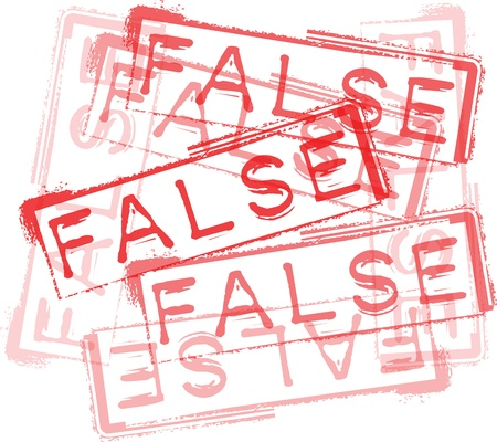 fraud: FALSE rubber stamp print. Vector illustration Illustration