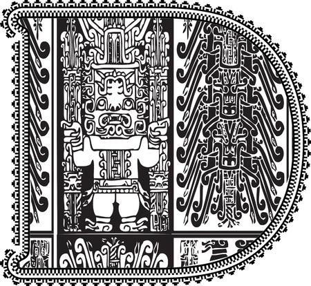 Ancient letter D. Vector illustration Vector