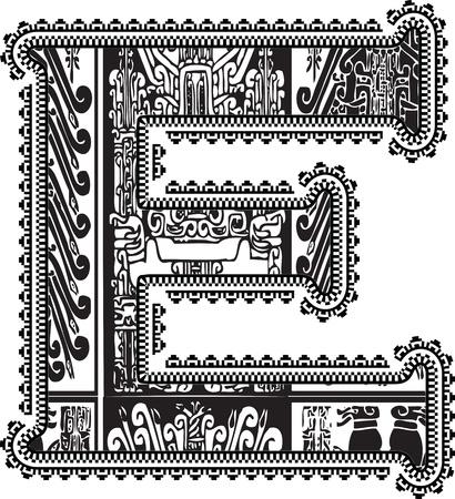 Ancient letter E. Vector
