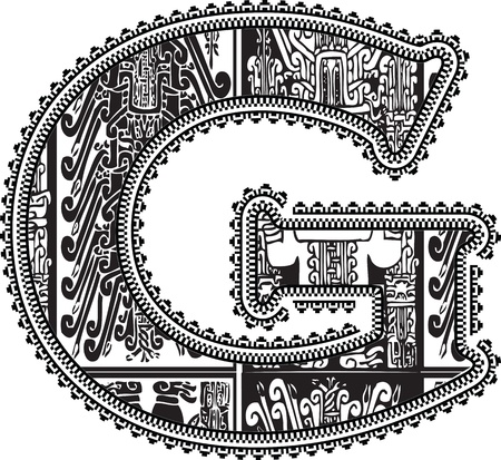 Ancient letter G. Vector illustration Vector