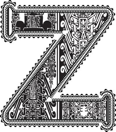 buchstabe z: Alte Buchstaben Z. Vektor-Illustration Illustration