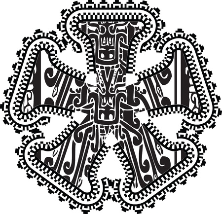 asterisk symbol with ancient drawing.  Vector