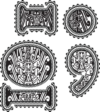 symbols with ancient drawing. Vector illustration Stock Vector - 14657009