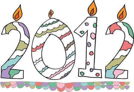 happy new year 2012 made with candles Vector