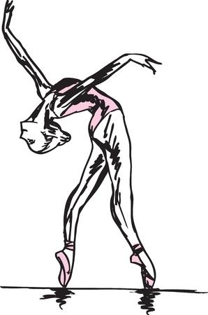 ballet slipper: Bosquejo del bailar�n de ballet