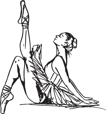ballet slipper: Sketch of ballet dancer