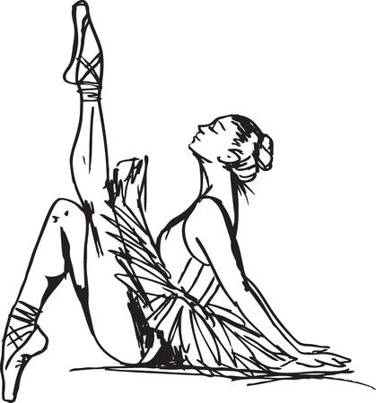ballet dancer: Sketch of ballet dancer