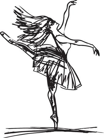 able: Sketch of ballet dancer