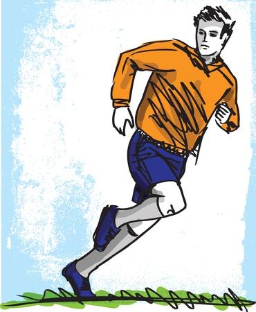 sporting event: Sketch of Soccer Player Illustration