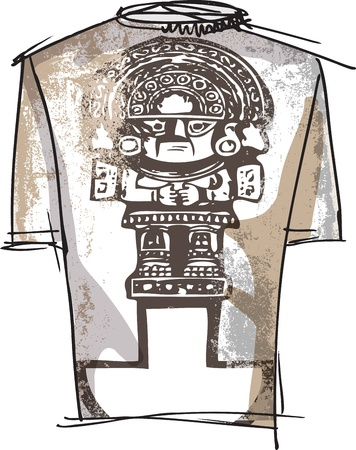 inca: Grunge inca tee Illustration