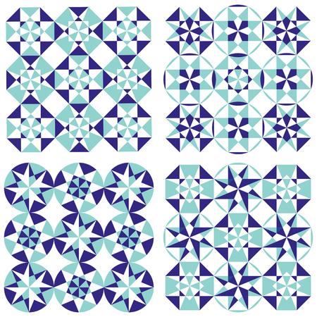 Set of arabesque seamless patterns, floor pattern, mandala, vector pattern background