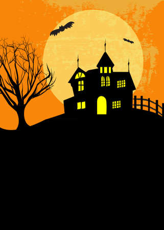 haunted house: Halloween haunted scene