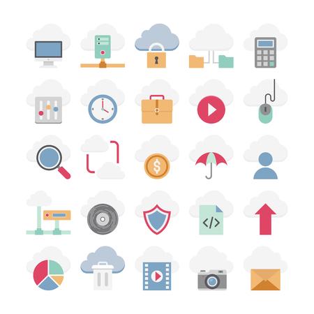 cloud computing vector icons 向量圖像