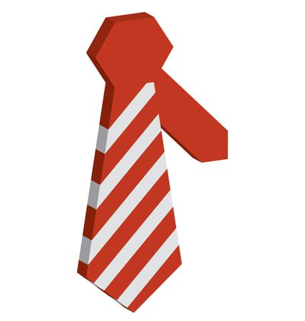 Necktie Vector Isometric editable icon