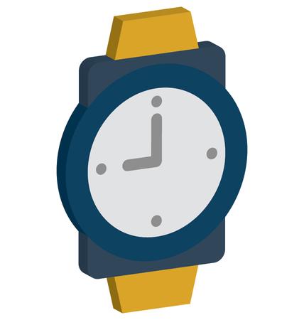 Wristwatch Vector Isometric editable icon