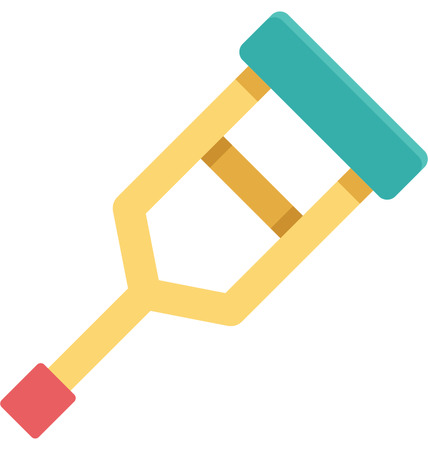 This is Crutches Color Vector Icon very useful for your health, fitness and medical related project, buy this vector and make more catchy Your Project