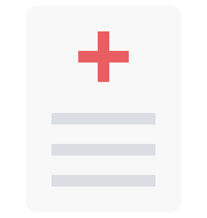 This is Medical Report Color Vector Icon very useful for your health, fitness and medical related project, buy this vector and make more catchy Your Project