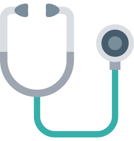 This is Stethoscope Color Vector Icon very useful for your health, fitness and medical related project, buy this vector and make more catchy Your Project