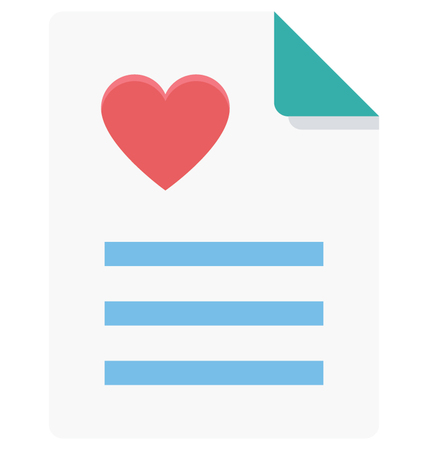 This is Heart Report Color Vector Icon very useful for your health, fitness and medical related project, buy this vector and make more catchy Your Project 向量圖像
